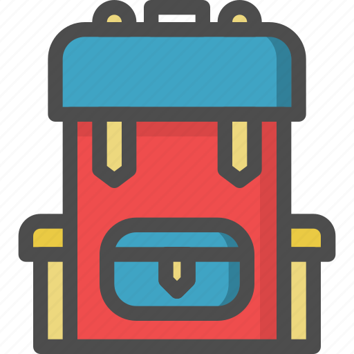 back pack, pack, tracking, travel, turist icon