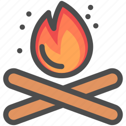 camping, cooking, fire, flamable, flame, frie, place icon