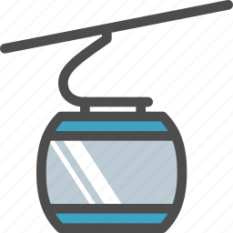 cabine, cable, car, climb, rope, transport, travelling icon