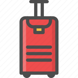 baggage, clothes, holiday, luggage, pack, travelling icon