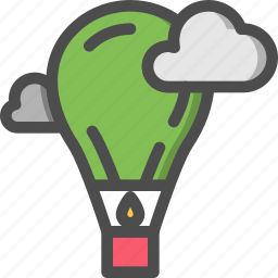 air, air baloon, baloon, fly, hot, sky, travelling icon