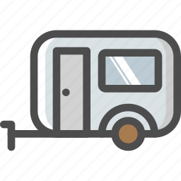 bus, camp, camping, home, mobile, trailer, travelling icon