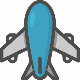 air, airplane, bus, fly, plane, transport, travelling icon