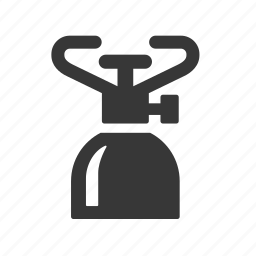 adventure, burner, camping, gas, gas burner, outdoors, raw, simple icon
