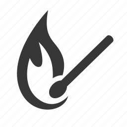 adventure, camping, match, match stick, outdoors, raw, simple icon