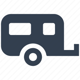 camping, caravan, leisure, picnic, recreational, trailer, transport, travel, vacation, vehicle icon