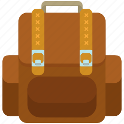 backpack, baggage, luggage, outdoor, travel icon