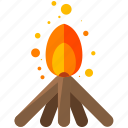 camp, campfire, fire, flame, outdoor, travel icon