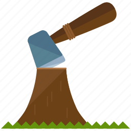 axe, chopping, equipment, outdoor, tool, travel, tree icon