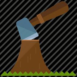 axe, chop, wood icon