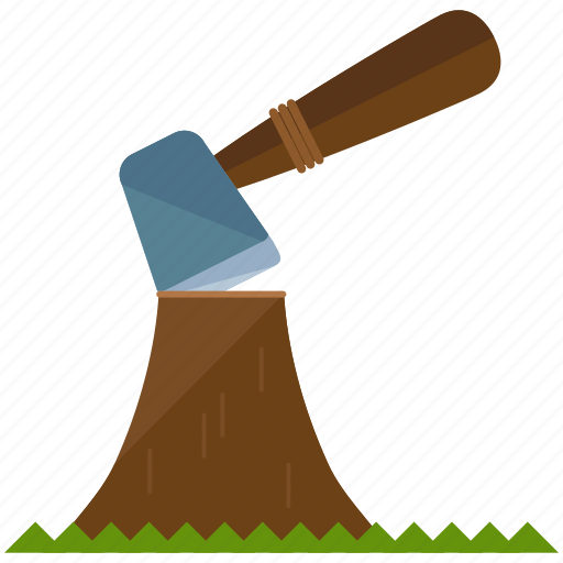 Axe Chop Wood Icon