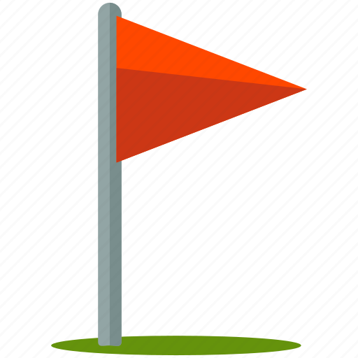 activity, camp, flag, golf, outdoor, post, travel icon