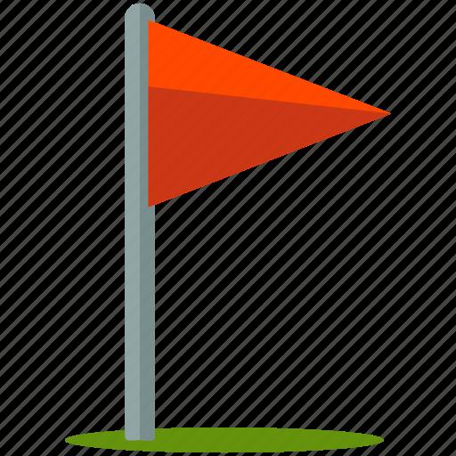 flag, golf icon