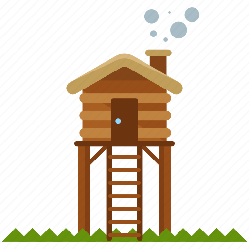 cabin, camping icon