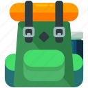 backpack, baggage, luggage icon