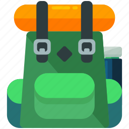 backpack, baggage, hiking, luggage, outdoor, travel icon