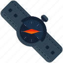 clock, compass, watch icon