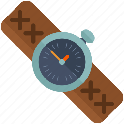 clock, leather, outdoor, time, travel, watch icon