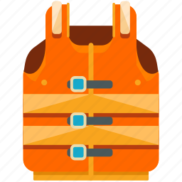 life, safety, vest icon