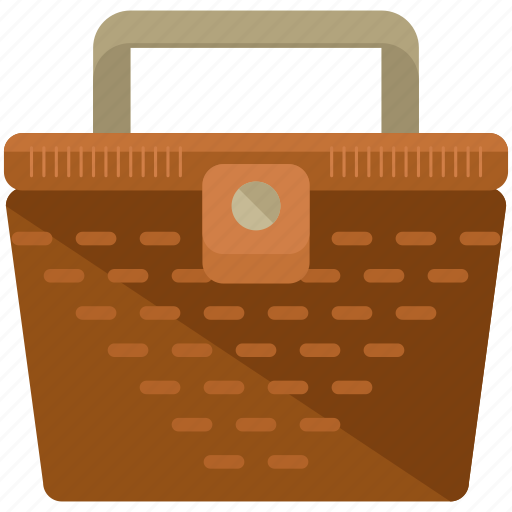 basket, container, food, lunch, outdoor, picnic, travel icon