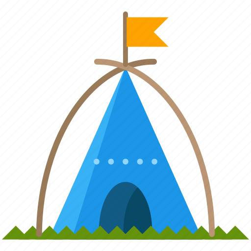 american, camp, native, outdoor, tent, travel icon