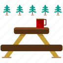 bench, picnic icon
