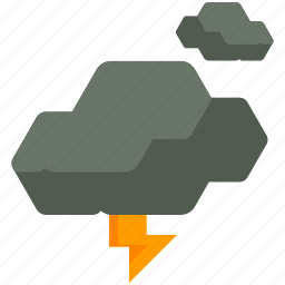 clouds, lightening, storm icon