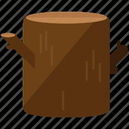stump, tree icon
