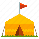camp, camping, flag, outdoor, tent, travel icon