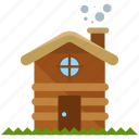 cabin, camp icon
