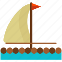 boat, float, sail icon
