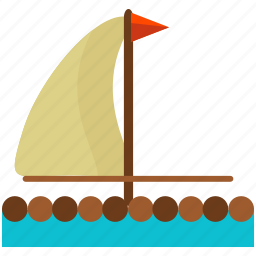 boat, float, outdoor, sail, travel, wooden icon