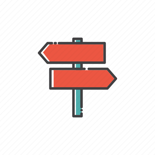 arrow, outdoor, post, sign, signpost, travel icon