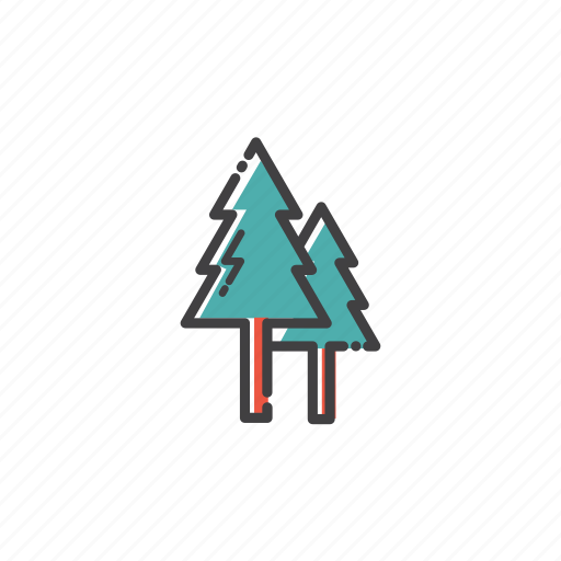 camp, forest, nature, outdoor, spruce, travel, tree icon
