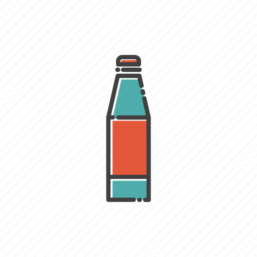 bottle, camp, drink, hot, ice, travel, water icon