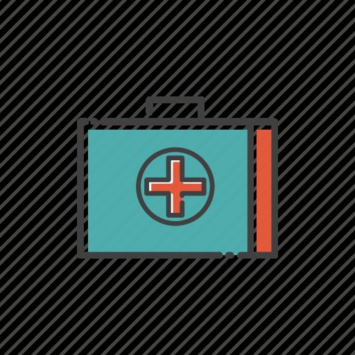 box, camp, care, drug, health, medical, travel icon