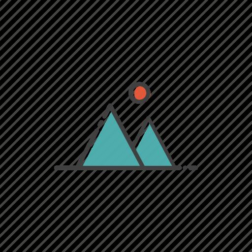 camp, climb, hiking, mountain, outdoor, travel icon