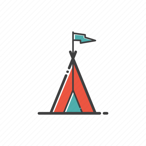 camp, forest, outdoor, sleep, tent, travel icon
