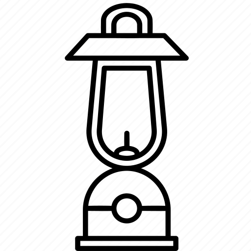 camping, lamp, lantern, light, outdoors icon
