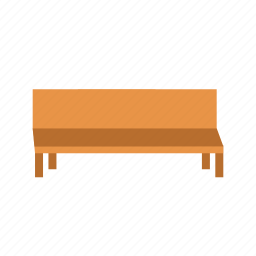 bench, chair, outdoor, park, seat, view, wooden icon