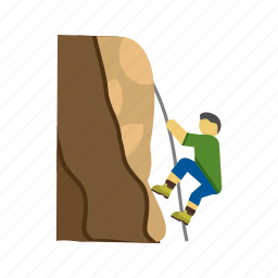 adventure, cliff, climb, climbing, mountain, success, top icon