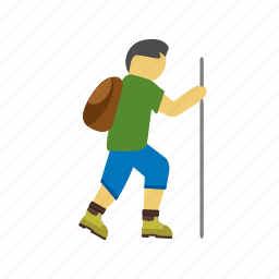 hiker, hiking, nature, outdoor, survival, travel, trekking icon