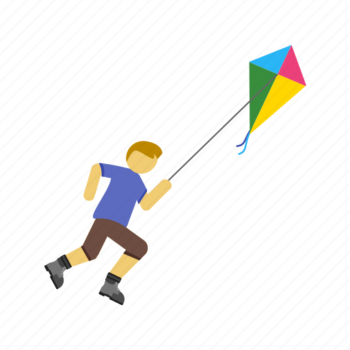 colorful, flying, kite, kites, playing, sky, summer icon