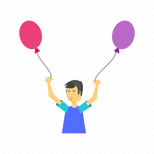 balloon, balloons, celebrate, celebration, child, colorful, happy icon