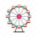 christmas, ferris, festival, fun, giant, sky, wheel icon