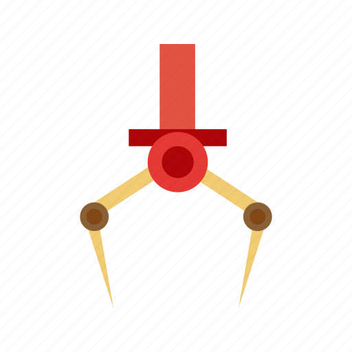 claw, mechanical, metal, recreation, robotic, steel, tool icon