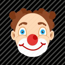 cartoon, clown, clowns, face, funny, hair, wig icon