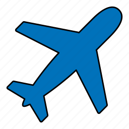airplane, airport, flight, fly, plane, travel icon
