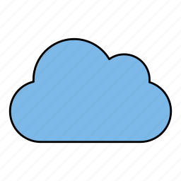 cloud, cloudy, sky, sun, weather icon