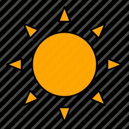 day, sky, solar, sun, sunny, weather icon
